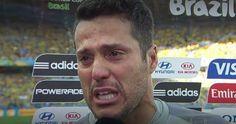 As lágrimas do herói do jogo Brasil X Chile.