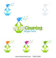 House Cleaning Vector Logo Design, Eco Friendly with shiny glass brush and spray Concept isolated on white Background Cleaning Service Logo, Vector Logo Design, Clean House, Eco Friendly, Royalty Free Stock Photos, Concept, Glass, Illustration, Drinkware