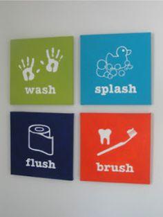 DIY Painted Bathroom signs