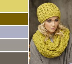 beautiful color scheme with gold brown and gray Colour Combinations Fashion, Color Combinations For Clothes, Color Blocking Outfits, Fashion Colours, Colorful Fashion, Color Combos, Color Schemes, Color Harmony, Color Balance