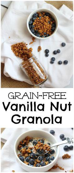 Grain Free Vanilla Nut Granola from LauraFuentes.com