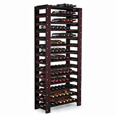 Swedish 126 Bottle Wine Rack (Mahogany) at Wine Enthusiast || free standing