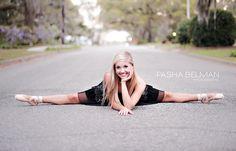 Senior Portrait / Photo / Picture Idea - Girls - Dance / Dancer - Ballet / Ballerina - Street / Road