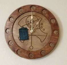 Gallifreyan Writing wall clock #TARDIS #TimePiece #DoctorWho