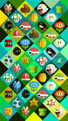 Mario World iPhone 5 wallpaper