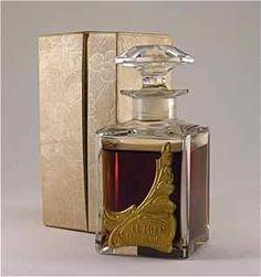 1922 Lentheric Le Mien Perfume Bottle
