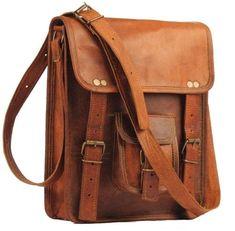 ef5ad4d197 Bag Leather Vintage Messenger Shoulder Men Satchel S Laptop School Briefcase  New  fashion  clothing