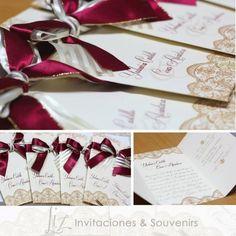 Rojo borgoña - invitaciones de boda Burgundy Red - wedding invitations wedding cards - handmade - hechoamano Tarjeteria