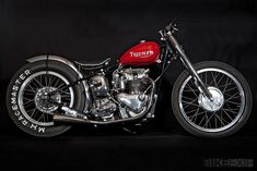 "One of the UK's top custom and vintage motorcycle builders is The Baron's Speed Shop, based in South London. This 1953 Triumph T100, however, is extra special. ""The inspiration came from Bobby Sirkegian's 'Pretty Boy' Triumph,"" says Baron's Dick Smith. ""The bike is designed to compete in the Vintage Motorcycle Club's sprint events held around the country."""