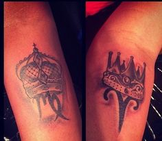 matching tattoos king and queen - Google Search