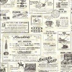 Adamstown Cream Vintage Newspaper CTR64271 wallpaper $60