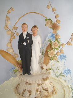 VINTAGE CAKE TOPPERS | vintage wedding cake topper | Flickr - Photo Sharing!