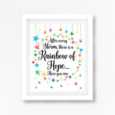 Rainbow Baby Print After Every Storm Comes by PerfectLittlePrints