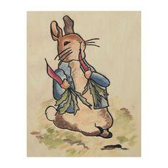 """Peter Rabbit"" Inspired WOOD WALL ART 11x14"