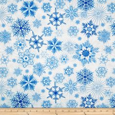 Timeless Treasures Winter Frost Glitter Snowflakes Snow from @fabricdotcom  Designed for Timeless Treasures, this cotton print includes shades of white and blue with a silver glitter accent throughout. Use for quilting, crafts and home decor accents.