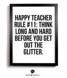 The glitter is coming out next week, big time! Its the week we start to make 8th grade dance decorations!