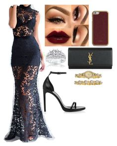 """Black Lace and Gold"" by jstyles-628 on Polyvore"