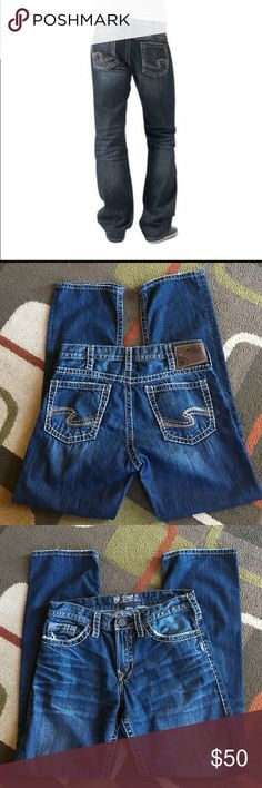 """Men's Silver jeans🍂 Style is """"Nash Heritage"""" 🍂inseam 32 🍂waist 32""""🍂 material is 100% cotton Silver jeans Jeans Straight"""
