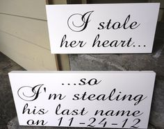 Engagement Photos Signs  I stole her heart by OurHobbyToYourHome, $50.95