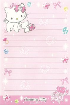 KAWAII SHEEPIE: Charmmy Kitty Stationary Scans