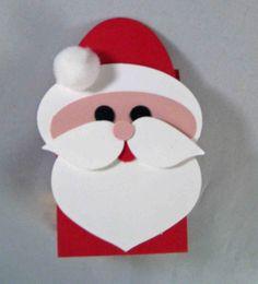 santa punch art cards | stampin up, santa candy treat | Punch art cards