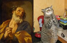 21 Cats Imitating Art. Or does art imitate cats? Here are 21 pictures to help you decide.
