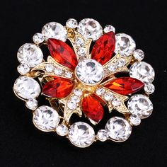 Find More Brooches Information about 42*42mm handmade Red flowers vintage brooch color rhinestone brooches for women diy Fashion Jewelry breastpin brooch pins,High Quality brooch findings,China brooch rhinestone Suppliers, Cheap brooch ribbon from Playful beauty department store on Aliexpress.com