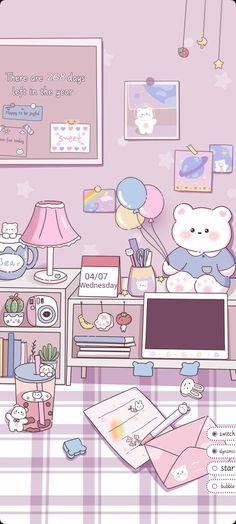 Iphone Wallpaper Kawaii, Cute Pastel Wallpaper, Cute Wallpaper For Phone, Soft Wallpaper, Anime Scenery Wallpaper, Purple Wallpaper, Cute Anime Wallpaper, Aesthetic Iphone Wallpaper, Normal Wallpaper