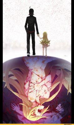 Anime,Аниме,Monogatari Series,Araragi Koyomi,Oshino Shinobu,Shinobu Oshino, Kissshot Acerolaorion Heartunderblade