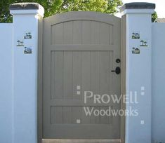 wood security gate