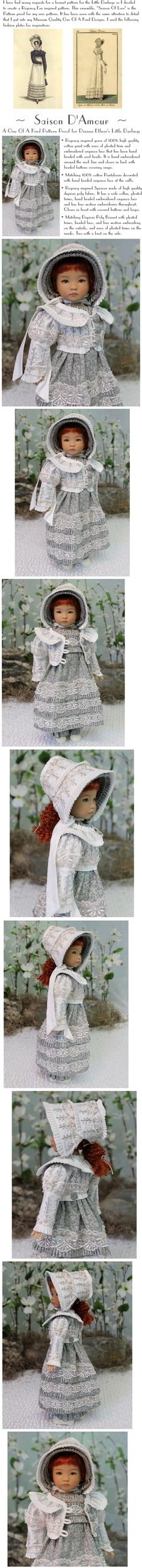 """Saison D'Amour"" by MHD, pattern proof for Little Darling outfit. Auction ends 3/31/14. Sold for $745.00"