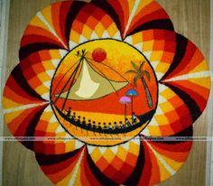 10 creative onam pookalam designs | Onam flower designs 2015 3d Rangoli, Rangoli Colours, Rangoli Ideas, Indian Rangoli, Simple Rangoli, Rangoli Designs, Kurtha Designs, Flower Designs, Onam Pookalam Design
