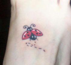ladbug tattoos | Flying Ladybug Tattoo