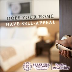 One of the most important things to do when selling your house is to de-personalize it. This will give your home Sell-Appeal. If bedrooms or other rooms are painted colors that may not appeal to everyone, repaint them more neutral colors. If you have decor that may not be liked by everyone, put it away. Keep decorations simple and nice. And, throughout your the house, create an environment that is inviting and appealing. The more someone can envision their own furnishings in the house, the…