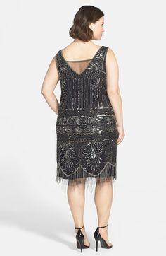 Pisarro Nights Beaded Double V-Neck Dress | Nordstrom