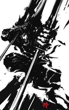 AWWWSOM Japanese-Inspired Illustrations Of Samurai Warriors - http://derylbraun.deviantart.com/