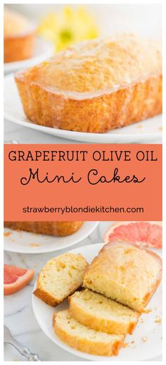 Deliciously moist and bursting with fresh grapefruit flavor, these Grapefruit Olive Oil Mini Cakes are cute, delectable and delightful making them perfect for any occasion! | Strawberry Blondie Kitchen