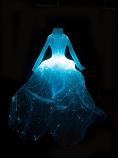 Fiber Optic Gown by fashion designer and artist Taegon Kim