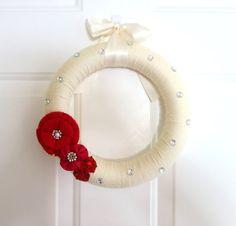 Valentine's Day Wreath  Every Day Wreath  by WeddingsAndWreaths