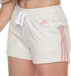 These women's adidas shorts pack a lot of style in a slim-fit package. Cute Workout Outfits, Cute Comfy Outfits, Sporty Outfits, Athletic Outfits, Summer Outfits, Girl Outfits, Fashion Outfits, Adidas Outfit, Adidas Shorts