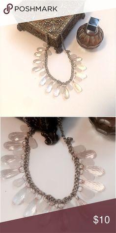 """HP 🎉 • Clear • Bead • Necklace Cute clear/white bead necklace takes on the color that it is laid against, with silver chain.    ✨Host Pick for """"Total Trendsetter"""" Party by @matadora1978 12/6/2016✨ Jewelry Necklaces"""