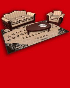 This Ouija Board Rug and Coffee Table Need to Exist