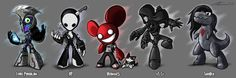 (The idea initially came from designing characters out of electronic musicians. Knife Party, Game Concept, Fighting Games, Edm, Music Artists, Pikachu, Character Design, Anime, Inspiration