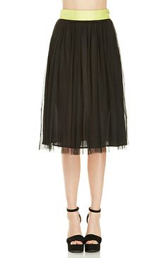 Layered Tulle Midi Skirt. Shop now at DailyLook!
