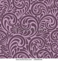 Swirls and curls seamless abstract background in violet color - stock vector