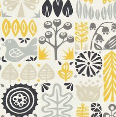 'Woodland' fabric print from New brand Scion