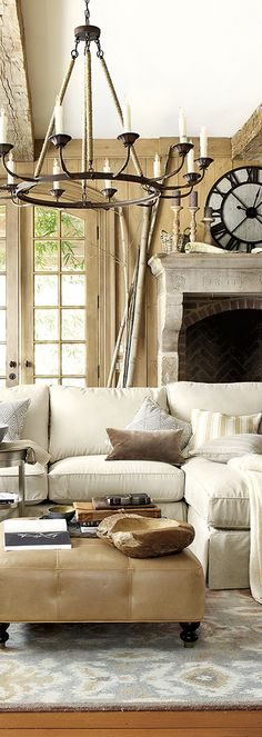 Warm and neutral living room