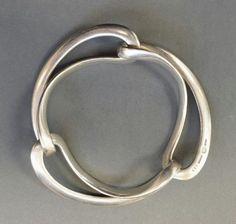 Vintage Georg Jensen Sterling 925 Silver Infinity Bracelet, Design #452 , Denmark #GeorgJensen #Bangle