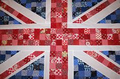 RMK life: Union Jack: Repurposed Denim Quilt
