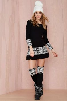 Knitz Ice Skate Mini Dress | Shop What's New at Nasty Gal